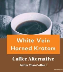White Horn Kratom - Nootropic & Euphoric Effects - Coffee